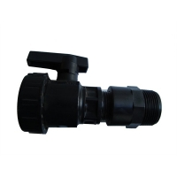 Kraan en verloopnippel 25-32mm voor koudwaterbak